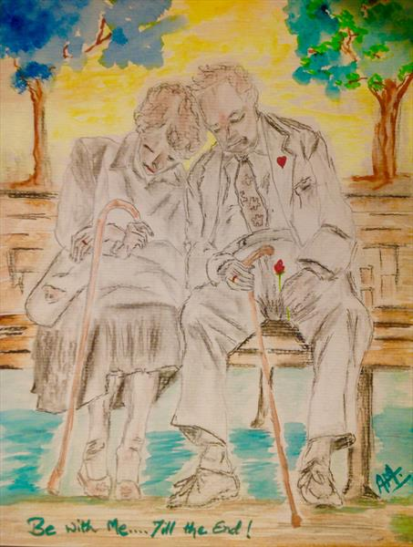 Old valentine couple: be with me...till the end by Anushree Mish