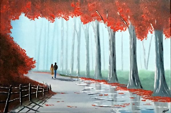 Red Autumn Walk