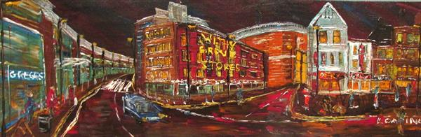 withy Grove Manchester by Night  by Andrew Alan Matthews