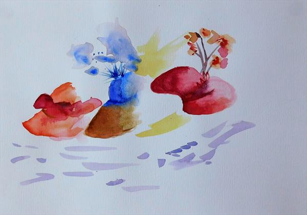 ORIGINAL WATERCOLOUR PAINTING Hats off to Ascot by susan wooler