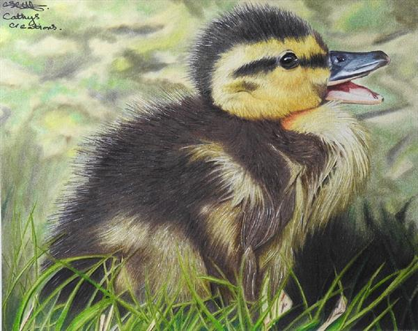 Laughing Duckling by Cathy Settle