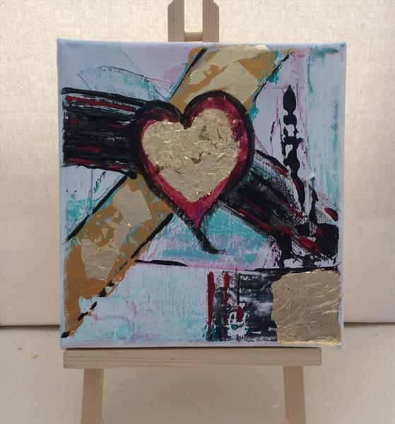 Heart Abstract Two by Rosie Cunningham
