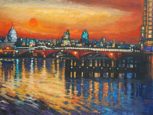 St Pauls Cityscape (Limited Edition Print) by Patricia Clements