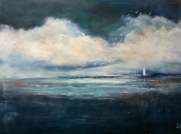 'Clouds Make Me Dream' Oil/mixed Media on canvas 31.5