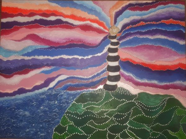 The Wonky Lighthouse No.1  by Allison Swindell