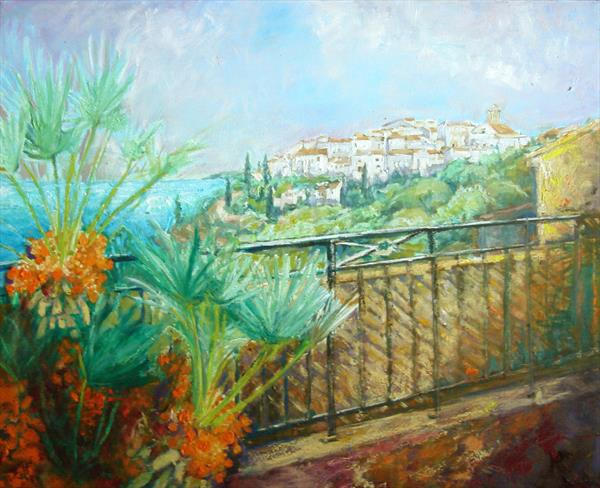 South of France Hilltop Village by Patricia Clements