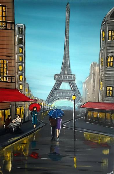 Evening In Paris 2 by Aisha Haider