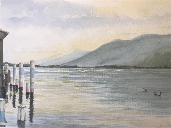 Jetty reflections by Peter Blake