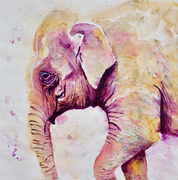 Asian Elephant LARGE by Anna Pawlyszyn