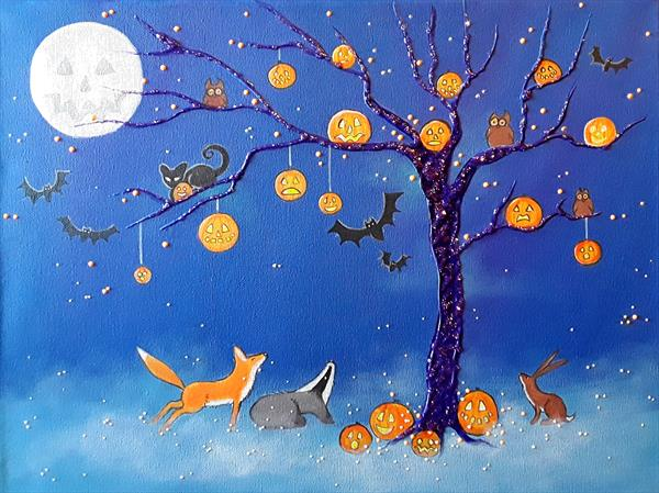 Halloween in the Wildwood by Angie Livingstone