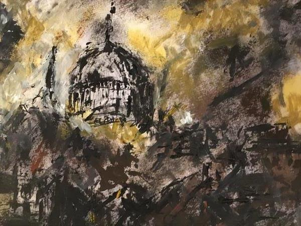 St Paul's in the Blitz 1940 by catherine George-Samuels