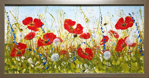 Joyous Poppies Landscape by Carol Wood