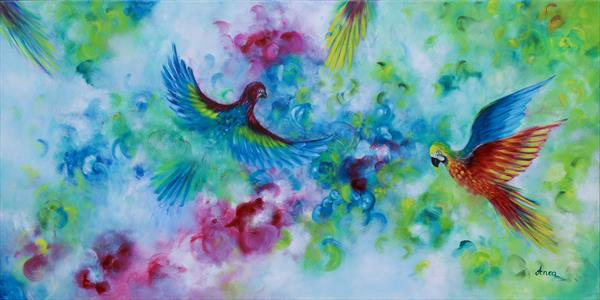 Colourful wings by Florentina(anca)  popescu