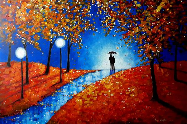 Autumn Evening  Rain by Angie Livingstone
