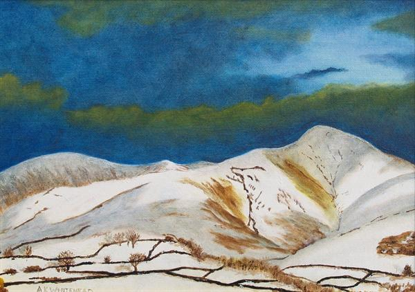 Howgill Fells in Winter, Yorkshire Dales by Anthony Keith Whitehead