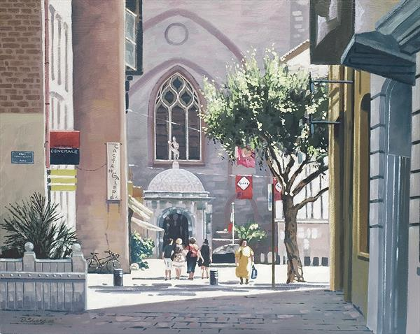 Cathedral St Jean, Perpignan, S. France. by David Shiers