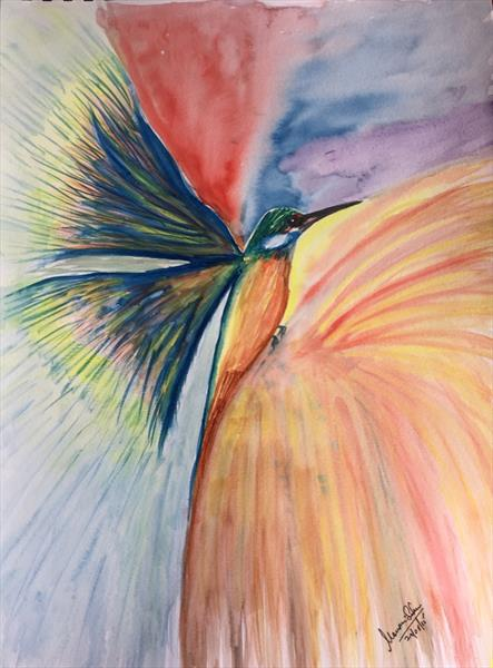 Abstract humming bird by mousumi sahoo