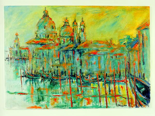 Sunset in Venice by Peter King