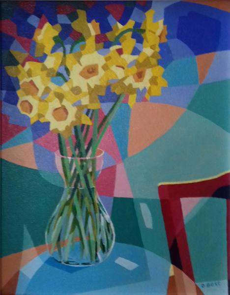 Vase of Daffodils by David Best