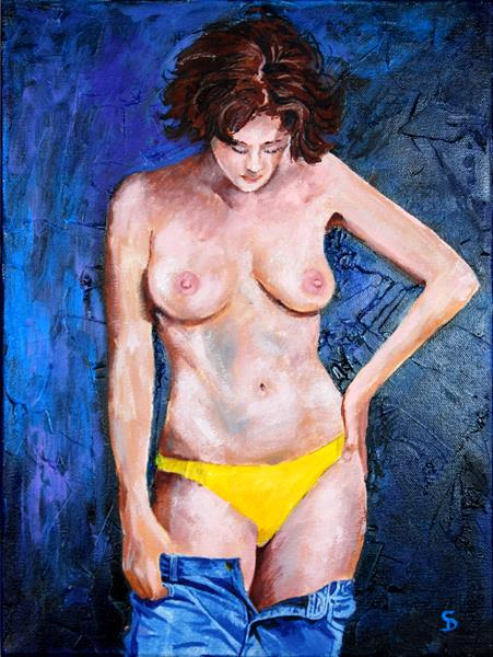 Yellow and blue by Stuart Dalby