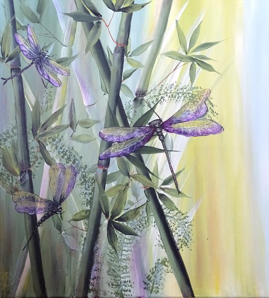 The bamboo dragonflies by Evelyne Herbin