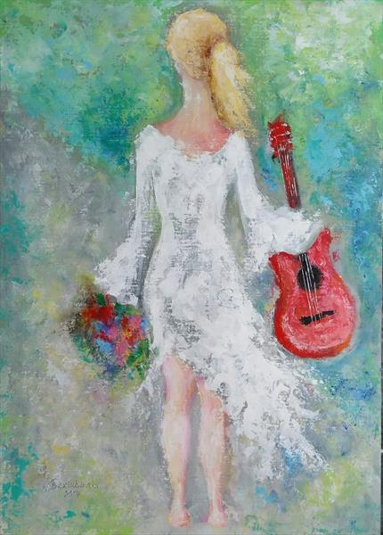 Girl with Red Guitar 33