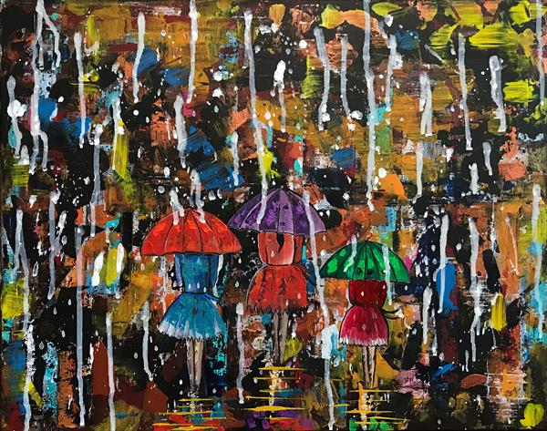 Rainy Day Walking by  Rizna  Munsif