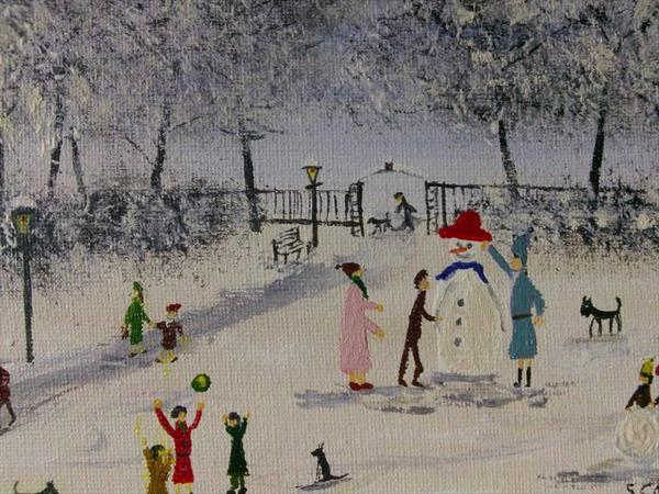 Snowman in the Park