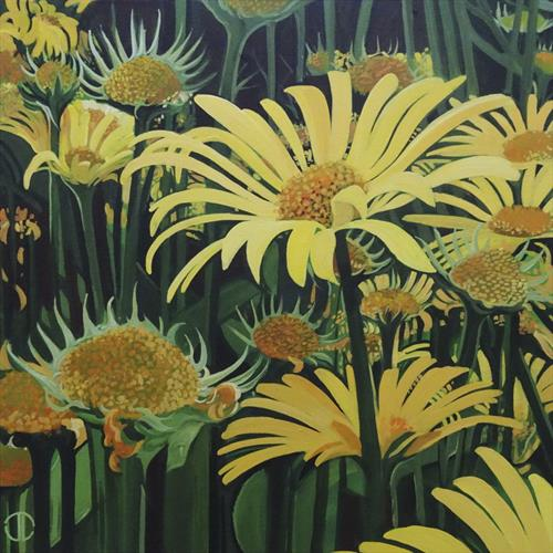 Flowers In The Summer Border by Joseph Lynch