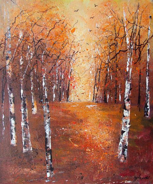 Autumn Silver Birches