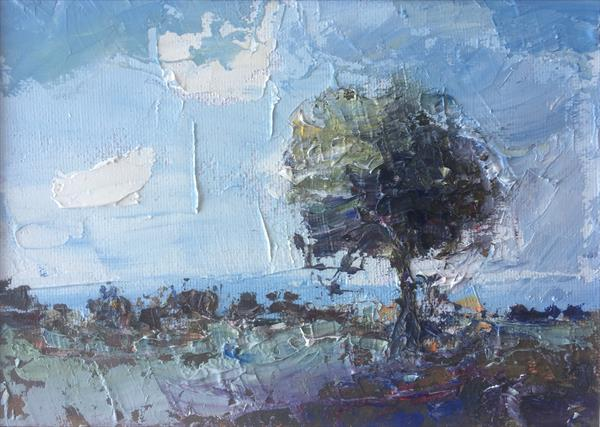 Tree with Gathering Storm by Alan Daysh