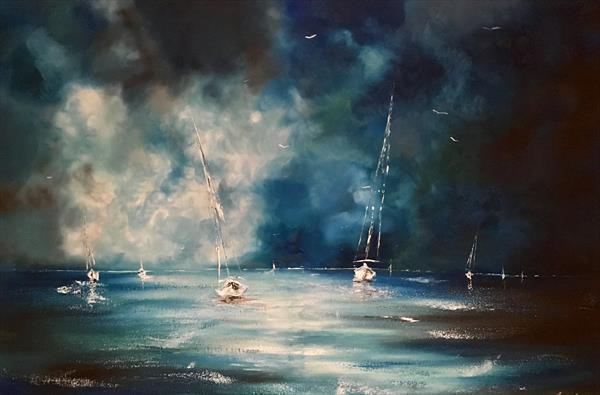 Stormy sails (Large)  by Pippa Buist