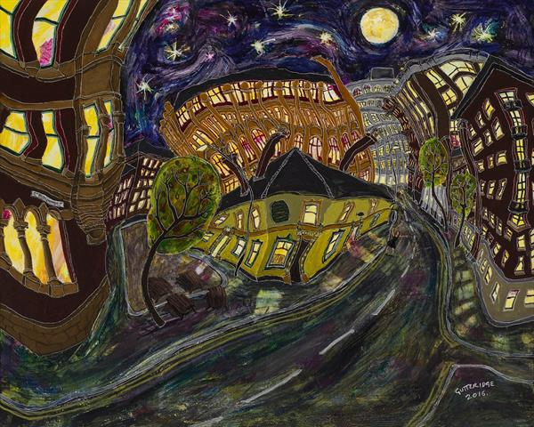 The Peveril of the Peak No. 10, at Night by Michael  Gutteridge
