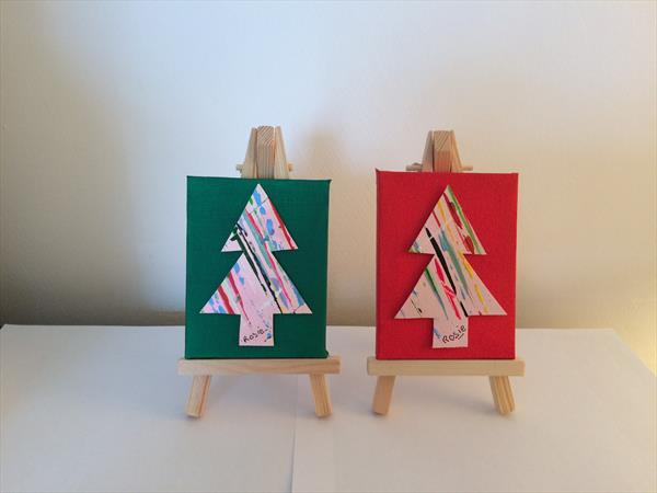 Two original paintings with Easels by Rosie Cunningham