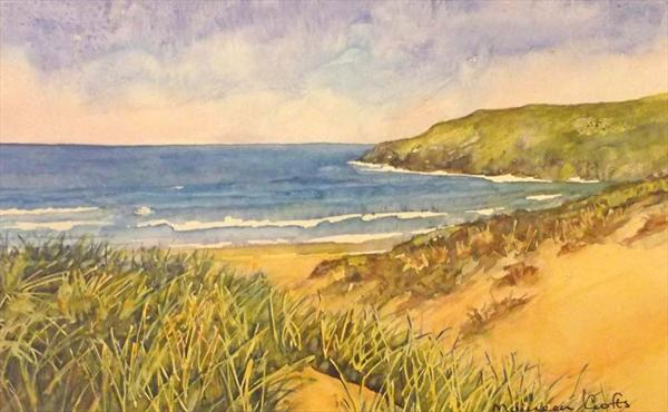 Crantock (Mounted) by Maureen Crofts