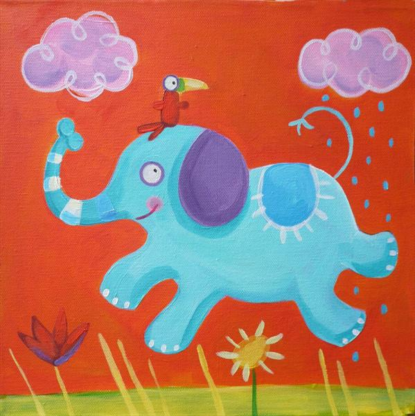 Leaping Elephant by Emily Skinner