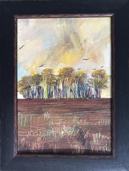 Summer is gone ( framed original oil ) by Sarah Gill