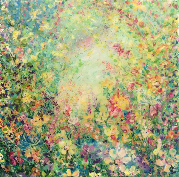 Abstract Meadow # Resin Art by Janice  Rogers