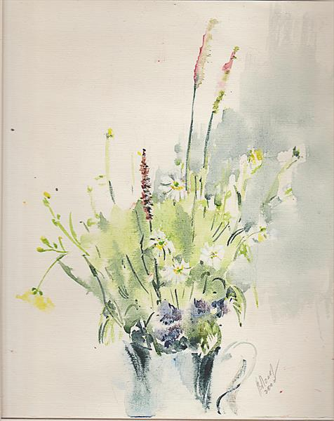 Spring melody. Watercolour 50 limited edition print, framed, signed
