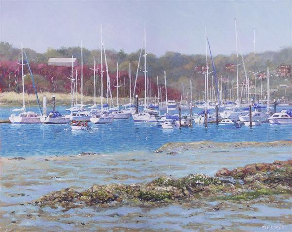 Boats At Hamble Marina by Martin  Davey