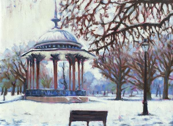 Clapham Common snow by Louise Gillard