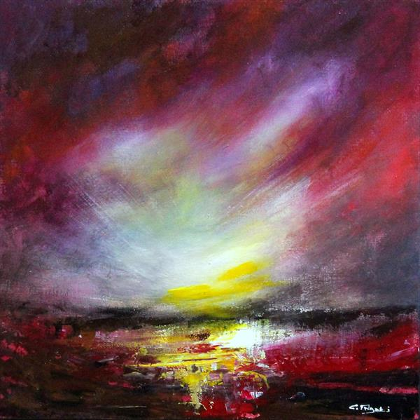 I Was There For You - Original abstract landscape by Cecilia Frigati