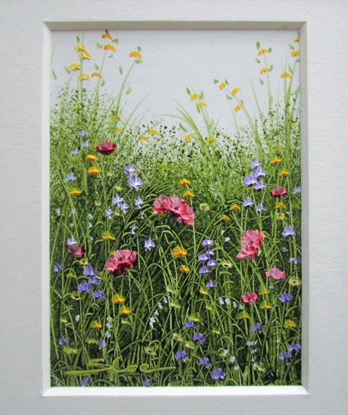 Wildflowers . Framed ACEO Art