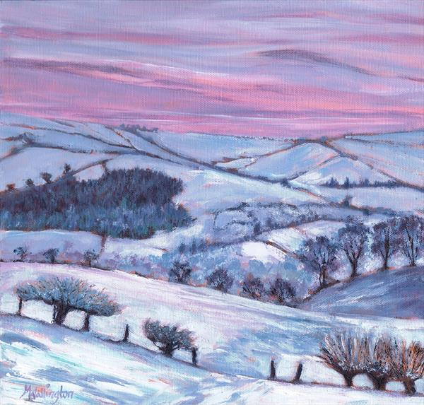 Welsh Hills in Snow by Michele  WALLINGTON
