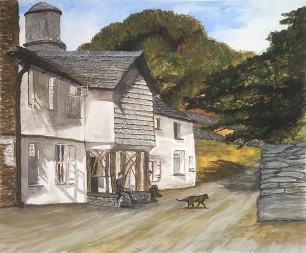 Lake District-fell foot farm by Damion  Maxwell