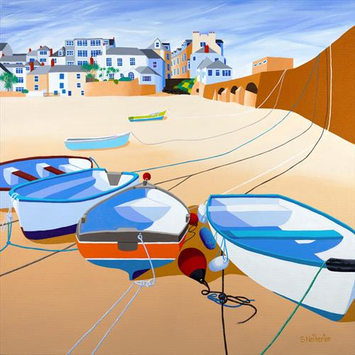 Low Tide, St Ives by Shirley Netherton