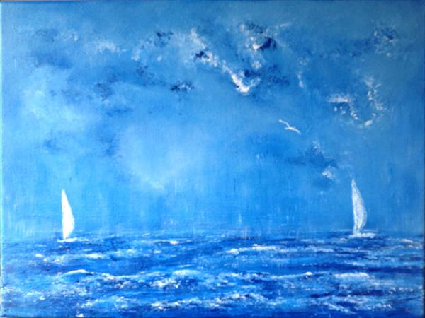 Sailing Home through the Storm by Tina Hiles
