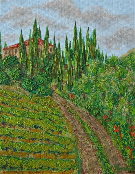 Tuscany Vineyards by Viktoria Ganhao