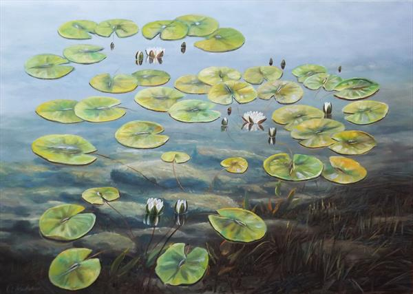Water Lilies 3 by Oleg Riabchuk