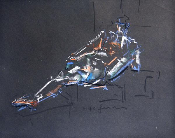 Nude Study of The Male Figure -Life Drawing No 334 by Ian Mckay